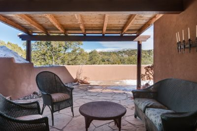 Dining Portal off of Dining Room with Views of Sangre de Cristo Mountains