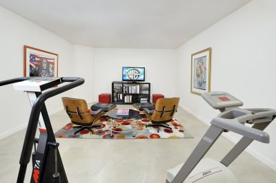 Downstairs Media & Workout