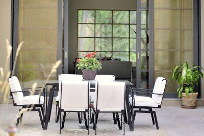 Dining Courtyard from Living/Kitchen