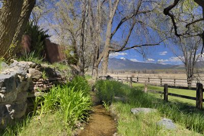 Meandering Acequia Borders the Property