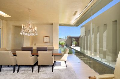 Dining Room with View to Reflection Pool