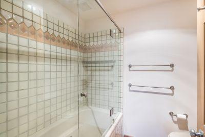 Frameless Glass Door to Shower in Owner's Bathroom