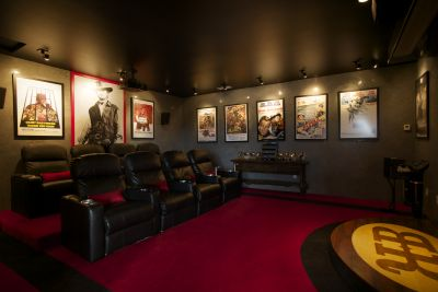 In Home Theatre and Media Room