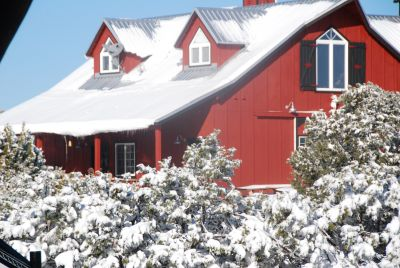 Winter Snow and Barn