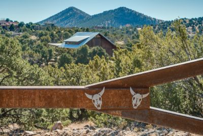 Gated Entry  with Mountain Views Beyond