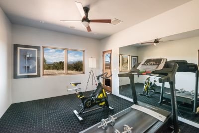 Exercise room in guest house
