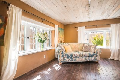 Sunroom Adjacent to Owner's Bedroom with Access to Garden Patio