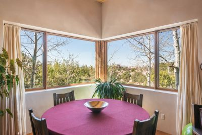 Dining Area of Great Room has Views of Sandia and Ortiz Mountains