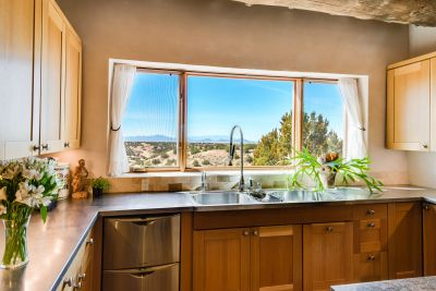 Views of Sandia and Ortiz Mountains from the Kitchen