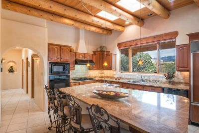 Gorgeous Views of Santa Fe Ski Basin from Gourmet Kitchen