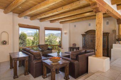Living Room Area with Sangre de Cristo Mountain Views