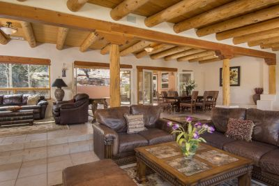 Expansive Great Room with Access to Entertainment Portal and Patio