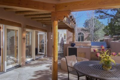 Private Entertainment Portal and Patio with Built-in Kitchen and Fire Pit