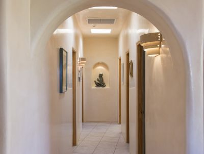 Detail of Hallway to Guest Suite Two and Office