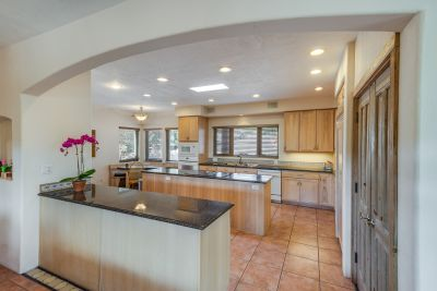 Gourmet chef's kitchen with granite counters,