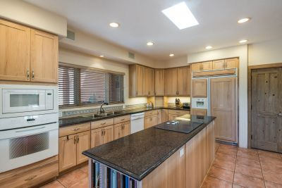 The kitchen is light, bright, clean , stylish & functional!