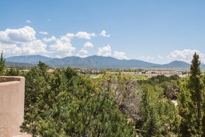 Views of Sangre de Cristo Mountains and Santa Fe City Lights