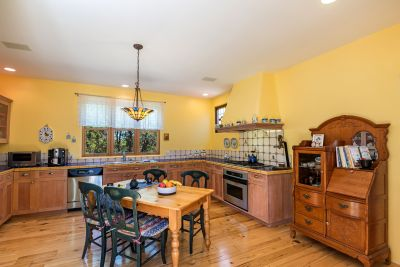 Carming Eat-In Kitchen - Planked hickory floors and the flavor of Provence. Built-in speakers.