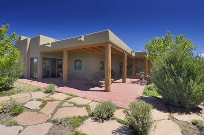 Back Entertaining Portal off Living Room with Jemez Mountain Views