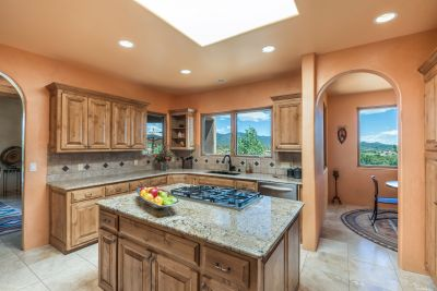 The Chef's Kitchen and Adjoining Breakfast Room Share the Magnificent Views