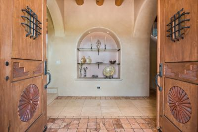 Hand-carved Doors to the Majestic Entry Foyer