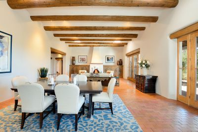 Great Room with Fireplace - Open Dining/Living Area