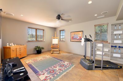 Exercise or Media Room/Studio off Master Wing & Garage