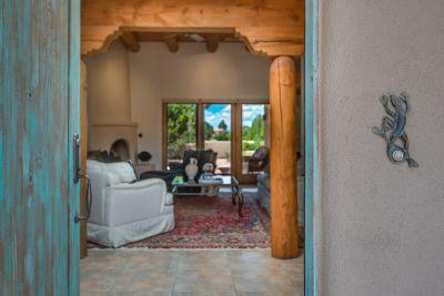 Front door - looking into the living room