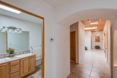 Guest bathroom - looking towards entry hall