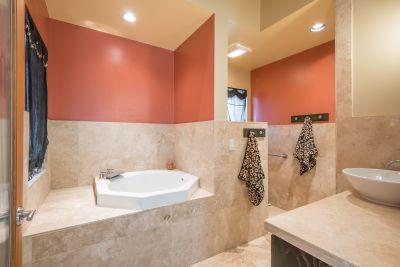 Japanese Soaking Tub in Master Bathroom