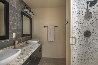 Three quarters hall bath