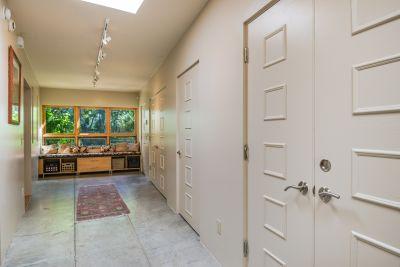 Large Hall Way with a hidden closet desk