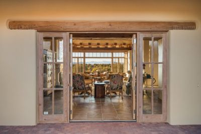 Entry with a Panoramic Jemez Mountain view upon opening the front door