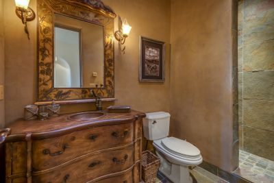 Bath # 4 / Powder Room near Bedroom #4 / Den with slate shower