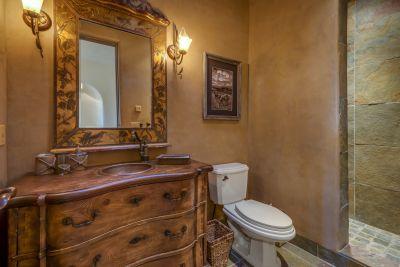 Bath # 4 / Powder Room near Bedroom #4 / Den with slate shower