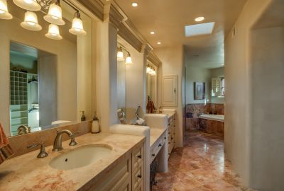 Master Bath with Dual Sinks & Sit-down Vanity