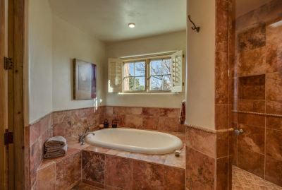 Master Tub & Shower (Bidet & Toilet compartment is to the Left)