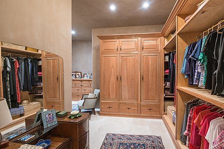 Master Bedroom walk-in closet and dressing area.