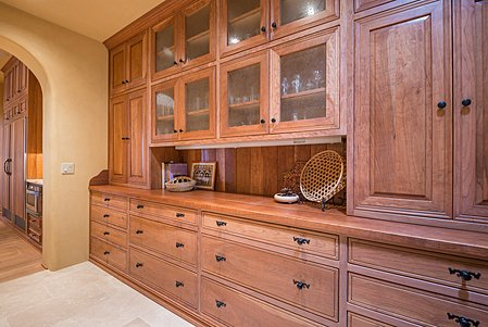 Butler's pantry. Cherry Cabinets.