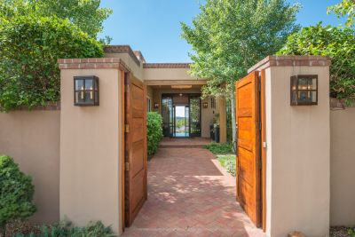 Magnificent Entry through the Courtyard into the Foyer and the Panoramic Views Beyond