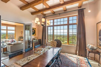 Dining Room Enjoys the Sweeping Galisteo Basin Views