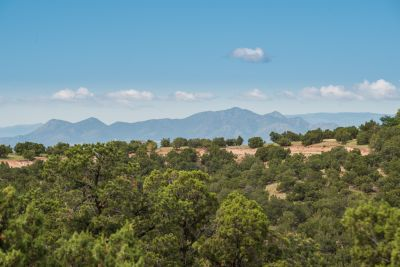 Views from Owners' Suite of the Ortiz Mountains and Sandias Beyond