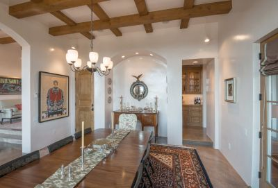 Dining Room with Lighted Arched Alcove
