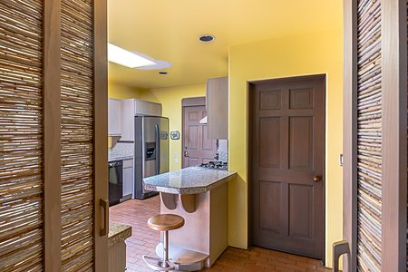 Kitchen view entering from dining room