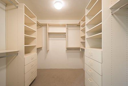 Master Bedroom's ample walk-in closet