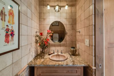 Stone Tiled Powder Room