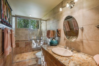Large Walk-in Shower in Guest Bathroom