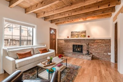 Main house living room with fireplace