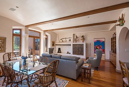 Family Room off Kitchen w/Shepherd's Fireplace