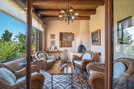 Master Bedroom - Enclosed Sitting Room w/Fireplace - Sangre de Cristo views